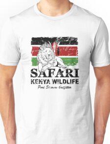 Kenya Lion Flag - Vintage Look Unisex T-Shirt