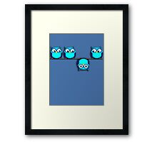 A whole different perspective for the owl Framed Print