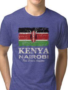 Kenya Flag - Vintage Look Tri-blend T-Shirt