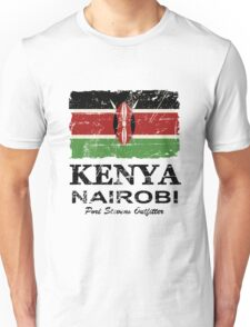 Kenya Flag - Vintage Look Unisex T-Shirt