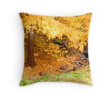 Shedding Yellow Throw Pillow