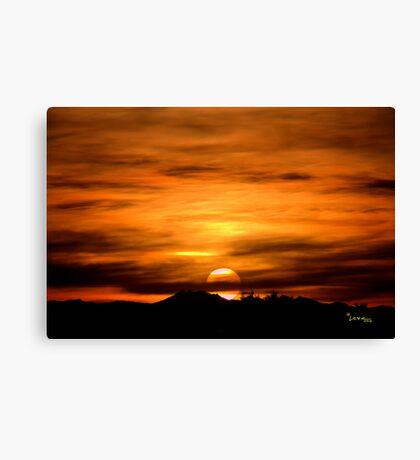 Sun Going Down Canvas Print