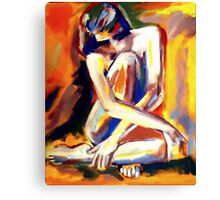 """Seated Lady"" Canvas Print"