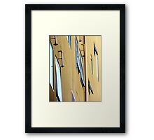 Window Side Profile with Sprinklers Framed Print