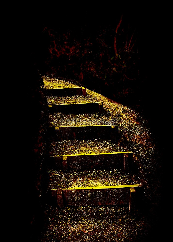 Just around the corner. by Lynne Haselden