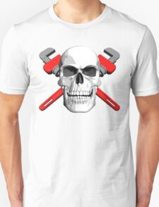Plumber Skull and Wrenches Unisex T-Shirt