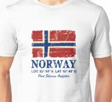 Norway Flag - Vintage Look Unisex T-Shirt