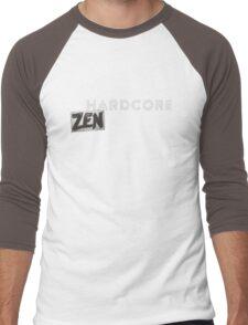 Hardcore Zen Logo Only T-Shirt or Hoodie Men's Baseball ¾ T-Shirt