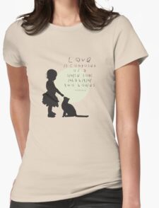 Love Is Womens Fitted T-Shirt