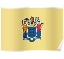 State Flags of the United States of America -  New Jersey Poster