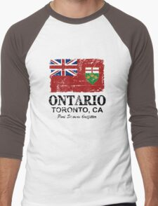 Ontario Flag - Vintage Look Men's Baseball ¾ T-Shirt