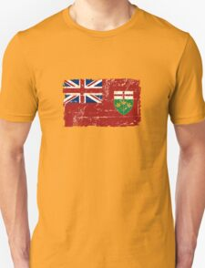 Ontario Flag - Vintage Look T-Shirt