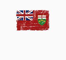 Ontario Flag - Vintage Look Unisex T-Shirt