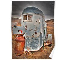 Horse Trailer Gone Postal Poster