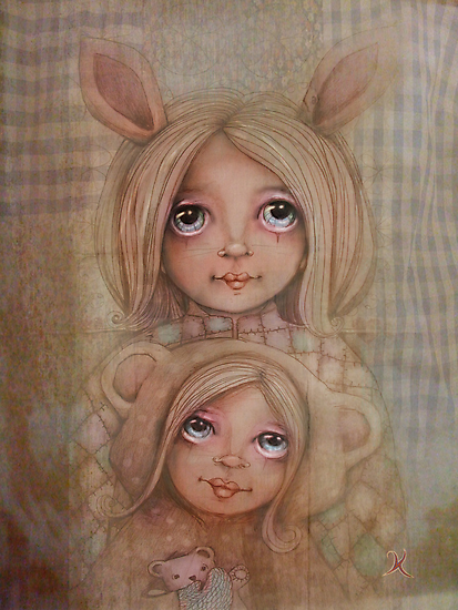 Bunny and Bear by © Karin  Taylor