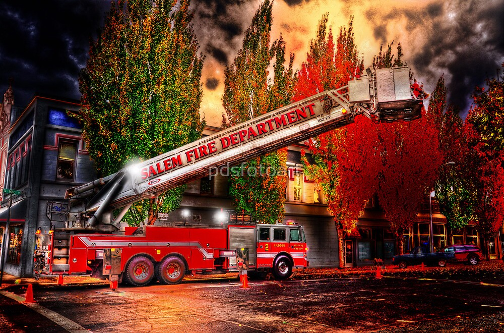 Salem Fire Engine by pdsfotoart