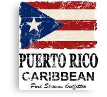 Puerto Rico Flag - Vintage Look Canvas Print