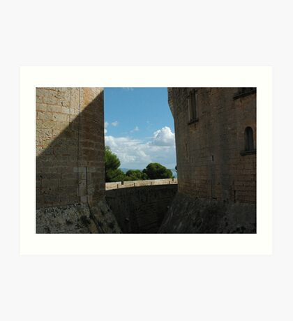 castle Palma de Mallorca Spain Art Print