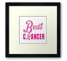 Beat Breast Cancer Framed Print