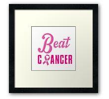 Beat Breast Cancer Framed Print