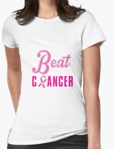 Beat Breast Cancer Womens Fitted T-Shirt