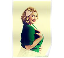 Vintage Pin Up Sumer Poster