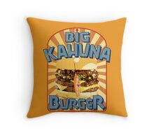 Big Kahuna Burger Fast Food Throw Pillow