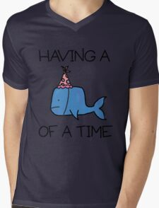 Having a Whale of a Time Mens V-Neck T-Shirt