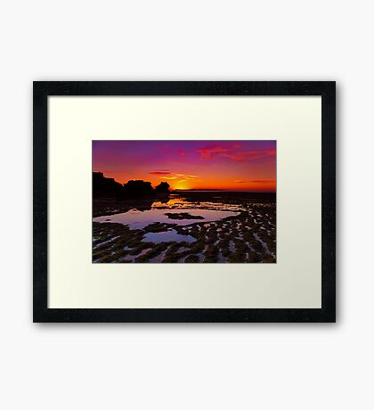 """Ripples and Reflections"" Framed Print"