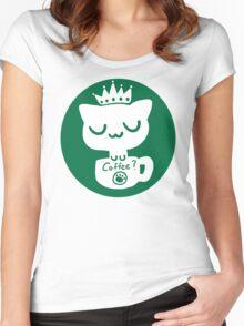 Cat Neko Cafe Women's Fitted Scoop T-Shirt