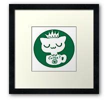 Cat Neko Cafe Framed Print