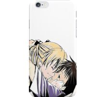 cute kisses anime edit iPhone Case/Skin