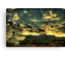 Just over the hill.... Canvas Print