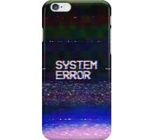 System error iPhone Case/Skin