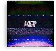 System error Canvas Print