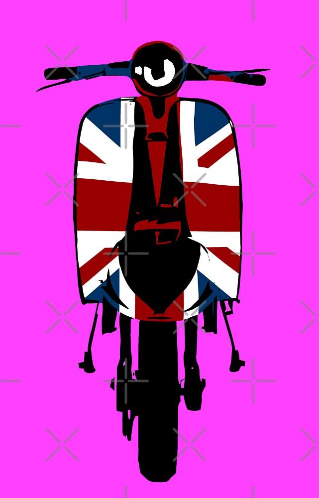 Union Jack Scooter Pop Art by Auslandesign