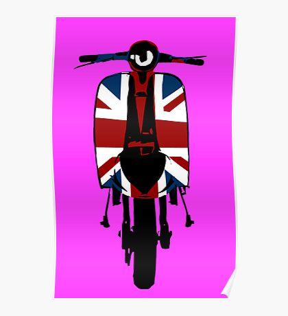 Union Jack Scooter Pop Art Poster