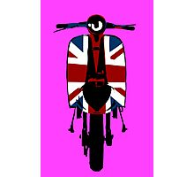 Union Jack Scooter Pop Art Photographic Print