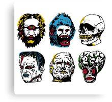 Halloween Monsters Canvas Print