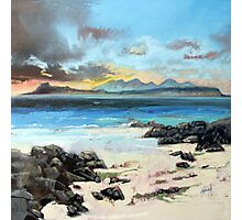 Eigg and Rum Photographic Print