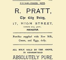"""VINTAGE ADVERT FOR THE """"CITY DAIRY"""" - Circa 1860 by Marlene Watson"""