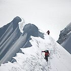 Climbers on der Mönch (4107 m), Switzerland by Hugh Chaffey-Millar