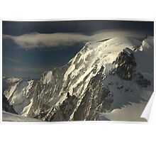 High Winds on Mont Blanc (4810 m) Poster