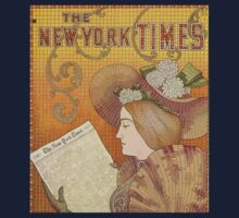 Poster 1890s EP Detail of a New York Times Advertisement 1895 USSR One Piece - Short Sleeve