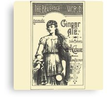 "VINTAGE ADVERT FOR ""The Beverage of the World"" Canvas Print"
