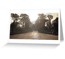 Preah Khan Gate, Siem Reap Greeting Card