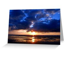Atlantic Sunset - Biscarrosse Greeting Card