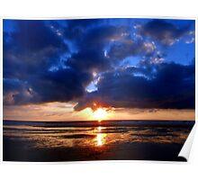 Atlantic Sunset - Biscarrosse Poster