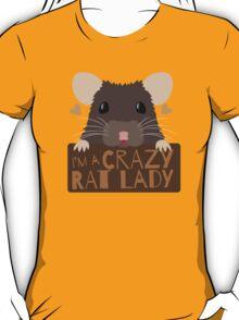 I'm a crazy Rat Lady more subtle cute rats face T-Shirt