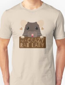 I'm a crazy Rat Lady more subtle cute rats face Unisex T-Shirt